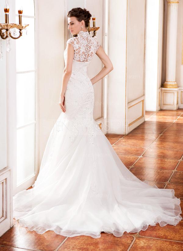 ... Organza Dentelle Robe de mariée avec Emperler Sequins (002055081