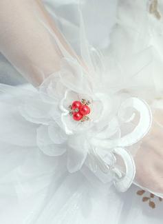 Тюль/Кружева локоть длина Свадебные перчатки (014200786)