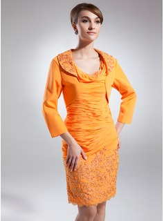 3/4-Length Sleeve Chiffon Special Occasion Wrap (013031707)