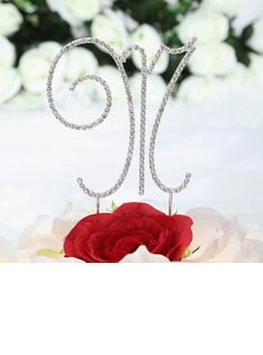 Monogram Chrome Wedding Cake Topper (119030813)