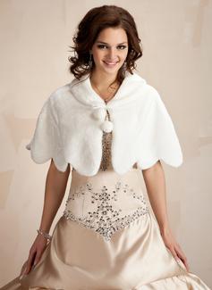 Faux Fur huwelijk Wrap (013021302)