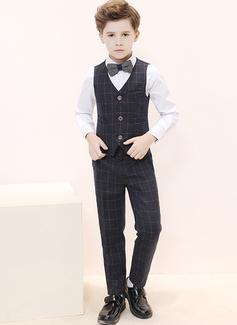 Ragazzi 4 pezzi Elegante Abiti per Paggetti /Page Boy Suits con Camicia ovest Pantaloni ciclo continuo (287204958)