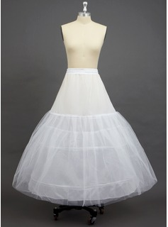 Women Tulle Netting/Polyester Ankle-length 3 Tiers Petticoats (037033967)