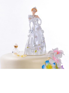 Gorgeous Fairytale Bride Resin Wedding Cake Topper (122036160)