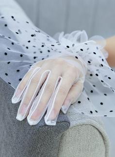 Тюль/Кружева локоть длина Свадебные перчатки (014200782)