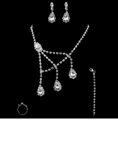 Mode Legering med Strass Damer' Smycken set (011010416)