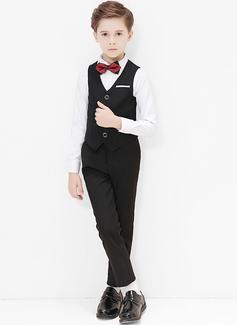 Ragazzi 4 pezzi Stile Classico Abiti per Paggetti /Page Boy Suits con Camicia ovest Pantaloni ciclo continuo (287204947)