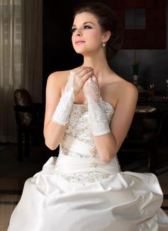 Упругие атласная локоть длина Партии/мода перчатки/Свадебные перчатки (014036642)