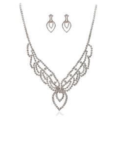 великолепный сплав с горный хрусталь женские Комплекты ювелирных изделий (011027640)