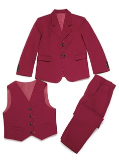 Boys 3 Pieces Solid Ring Bearer Suits /Page Boy Suits With Jacket Vest Pants (287199762)
