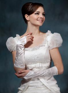Elastische Satin Elbow Lengte Bruids Handschoenen (014020523)