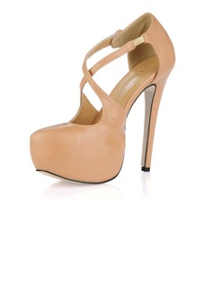 Kunstleer Stiletto Heel Pumps Plateau Closed Toe schoenen (085017468)