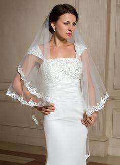Uno capa Con Aplicación de encaje Velos de novia vals con Apliques (006024476)