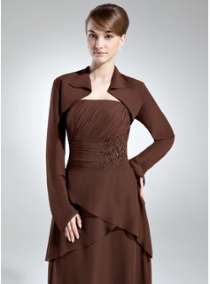 Long Sleeve Chiffon Special Occasion Wrap (013016029)