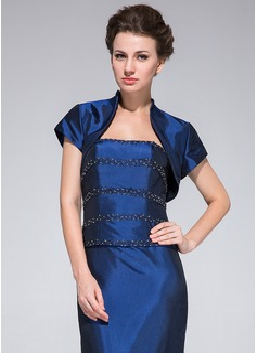 Short Sleeve Taffeta Special Occasion Wrap (013033631)