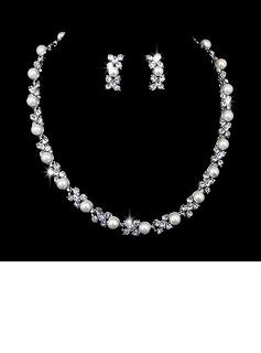 Beautiful Alloy With Pearl/Rhinestone Ladies' Jewelry Sets (011027002)