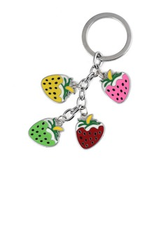 Lovely Strawberry Design Chrome Keychains (120052260)