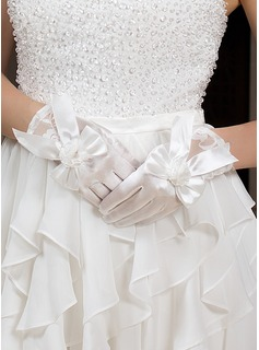 Elastic Satin Wrist Length Party/Fashion Gloves/Bridal Gloves (014035998)