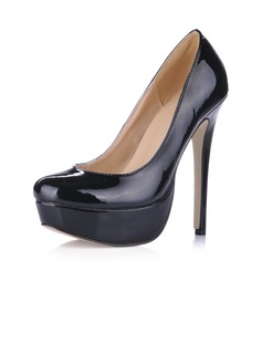 Vrouwen Patent Leather Stiletto Heel Pumps Plateau Closed Toe schoenen (085020589)