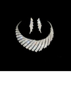 Lindo Liga/Strass Senhoras Conjuntos de jóias (011026990)