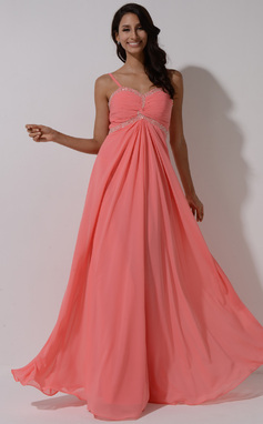 Empire Sweetheart Floor-Length Chiffon Prom Dress With Ruffle Beading Sequins (018055006)