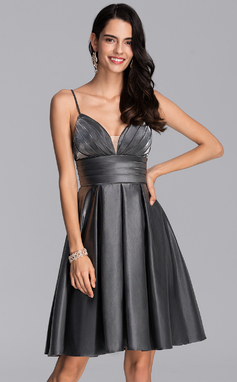 A-Line Sweetheart Knee-Length Jersey Homecoming Dress With Ruffle (022206512)