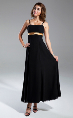 Empire Sweetheart Ankle-Length Chiffon Bridesmaid Dress With Sash Bow(s) (007001467)