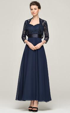 Vestidos princesa/ Formato A Amada Longuete Tecido de seda Renda Vestido para a mãe da noiva (008062564)