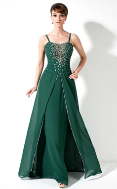 A-Line/Princess Sweetheart Floor-Length Chiffon Mother of the Bride Dress With Ruffle Beading Sequins (008017173)
