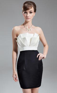 Платье-чехол Волнистый Мини-платье Атлас Коктейльные Платье с Рябь (008016283)