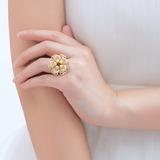 восхитительно медь/кружева с жемчуг женские кольца (011057861)