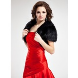 Short Sleeve Faux Fur Special Occasion Wrap (013021301)