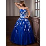 De baile Coração Longos Tule Vestido quinceanera com Bordado Apliques de Renda Lantejoulas (021020924)