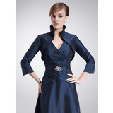 3/4-Length Sleeve Taffeta Special Occasion Wrap (013012406)