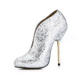 Espumante Glitter Salto agulha Bota no tornozelo sapatos (088036344)
