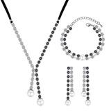 Elegante Strass/Vidro/Falso pérola Senhoras Conjuntos de jóias (011190024)