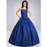 Платье для Балла Длина до пола Тафта Пышное платье с развальцовка блестки (021002868)