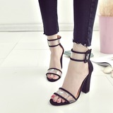Women's Plastics Chunky Heel Sandals shoes (087202478)