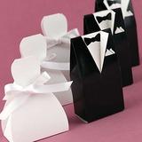 De & bruidegom bruid Bedank Doosjes met Linten (Set van 6 Paren) (050006374)