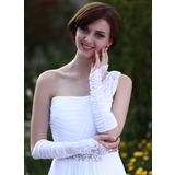 Упругие атласная локоть длина Свадебные перчатки (014003944)