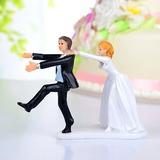 Engraçados e Relutante Resina Casamento Decorações de bolos (122036192)