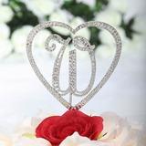 Monograma/Coração Cromado Casamento Decorações de bolos (119030816)