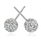 Elegant Alloy/Sterling Silver With Cubic Zirconia Earrings (011037056)