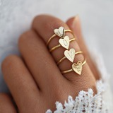 Letter Alloy Women's Fashion Rings (Sold in a single piece) (137197207)