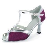Женщины Атлас кожа На каблуках Сандалии Латино с Т-ремешок Обувь для танцев (053022303)