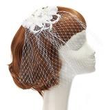 Anhänger Kunstseide/Feder Kopfschmuck mit Strass/Venezianischen Perle (042057573)