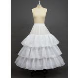 Women Polyester Floor-length 3 Tiers Petticoats (037033981)