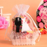 Bride & Groom Basket Favor Bags With Ribbons (Set of 12) (050054576)