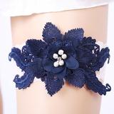 Элегантные Кружева с Цветок/горный хрусталь свадьба Подвязки (104209496)