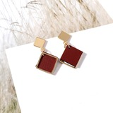 Beautiful Alloy Leatherette Women's Fashion Earrings (137191535)
